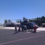 Vstop ekipe gasilcev v Bell 412