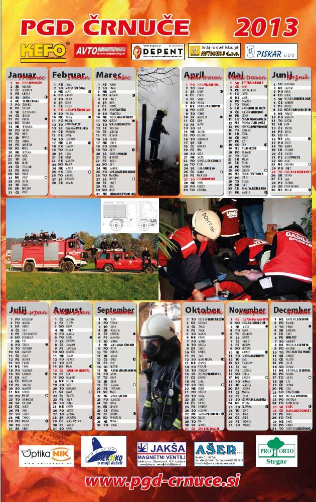 koledar PGD Črnuče 2013