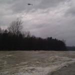Spodnji Gameljski jez in policijski helikopter med preiskovanjem