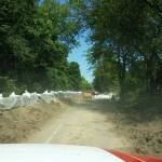 Zaključen protipoplavni zid na cesti (foto: PGD Črnuče)