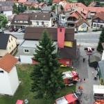 gasilski dom z višine 27m