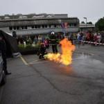 kotaljenje goreče jeklenke s plinom